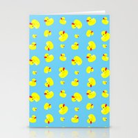 Rubber Duck Pattern Stationery Cards