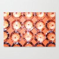 Diamonds // Orange Canvas Print
