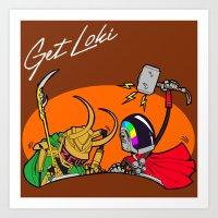 GET LOKI - DAFT PUNK Art Print