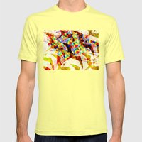 Birds And Kites. Mens Fitted Tee Lemon SMALL