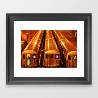 New York Queens Subway 7… Framed Art Print
