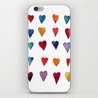 Multiple HEARTS iPhone & iPod Skin