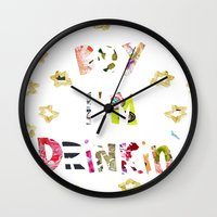 Drunk In Love Wall Clock