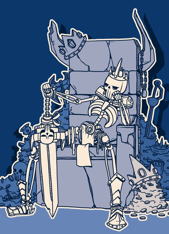 The Skeleton King Art Print