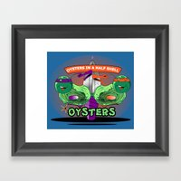 Oysters In A Halfshell Framed Art Print