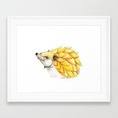 The Battle Hedgehog Framed Art Print