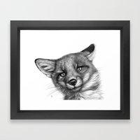 Fox Cub G139 Framed Art Print