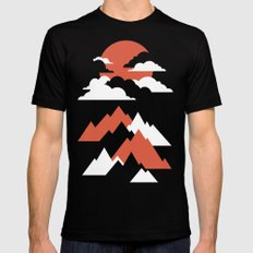 Fall Mountains Mens Fitted Tee SMALL Black
