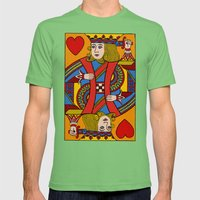 King of Hearts Mens Fitted Tee Grass SMALL
