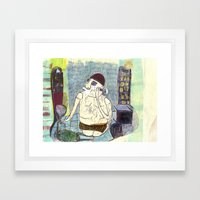 shaving Framed Art Print