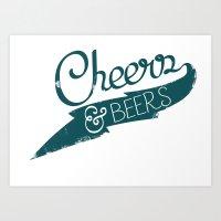 CHeers & BEerS Art Print