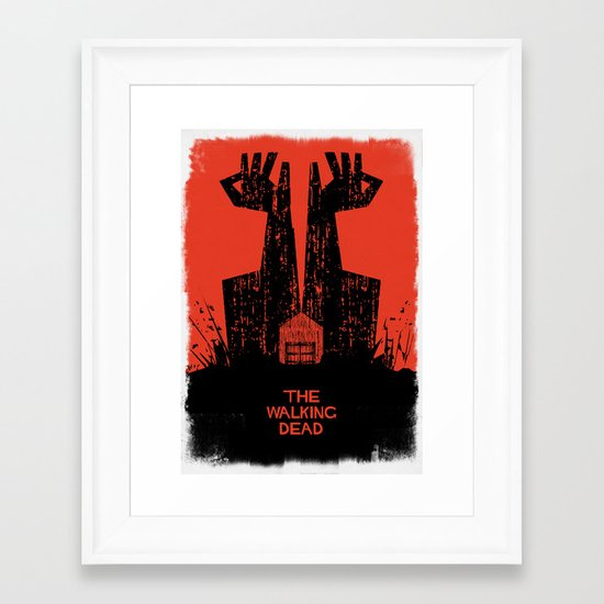 The Walking Dead. Framed Art Print