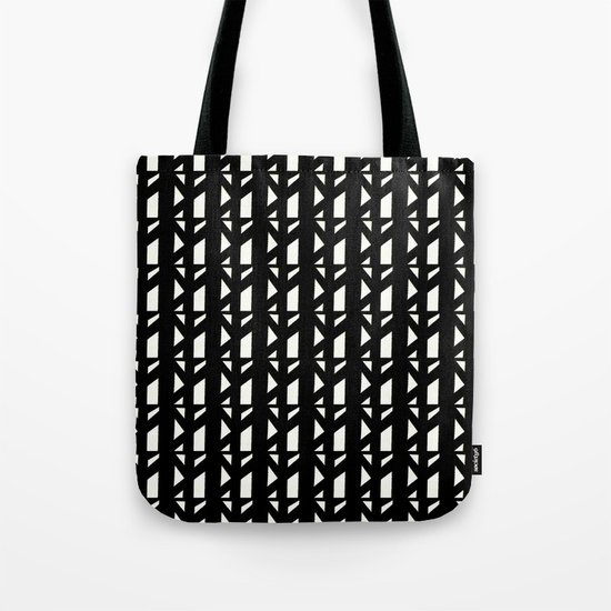 Marsman Black & White Pattern Tote Bag