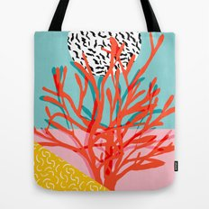 Big Time - throwback memphis style 1980s neon art print coral palm springs home decor hipster art  Tote Bag