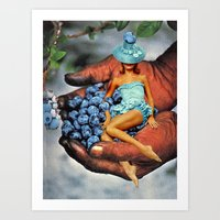Blueberry Fairy Art Print