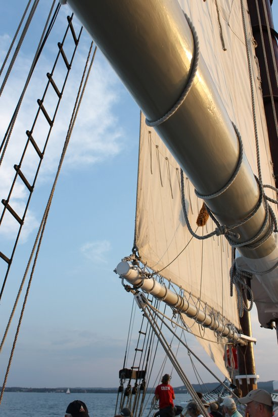 Sailboat Booms and Sails Art Print