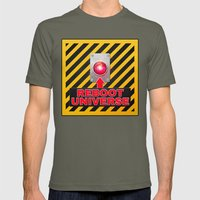 Reboot Universe Button Mens Fitted Tee Lieutenant SMALL