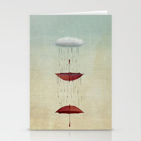 the umbrella runneth over and over Stationery Card
