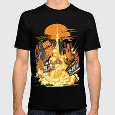 Smash! Zap!! Zooom!! - Butt-Chinned Captain SMALL Mens Fitted Tee Black