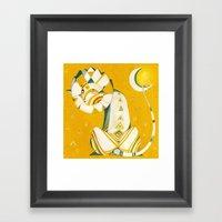 Guardian Of The Moon Framed Art Print