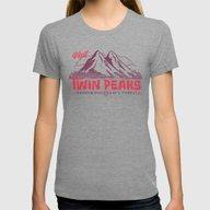 Visit Twin Peaks Womens Fitted Tee Tri-Grey MEDIUM