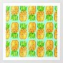 Darling Pineapples Art Print