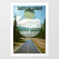 Wet Road Art Print