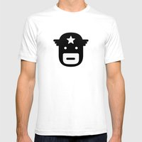 Captain America Mens Fitted Tee White SMALL