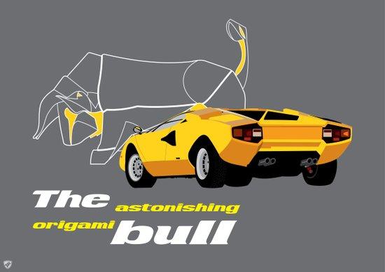 Origami Bull Art Print