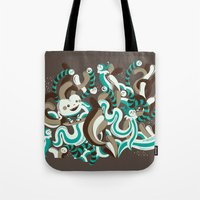 Heart Surfing Tote Bag