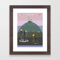 bellflower of the northern sky Framed Art Print