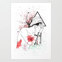 hipster Art Prints featuring Hipster by ArDem