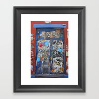 Graffiti Door NYC Framed Art Print