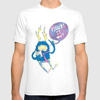 Figure It Out Mens Fitted Tee White SMALL
