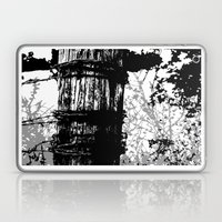 Barbed Wire Fence Post B… Laptop & iPad Skin