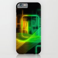 Abstract Glowing Lines iPhone 6 Slim Case