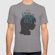 Inside Out - Minimal Mov… Mens Fitted Tee Athletic Grey SMALL
