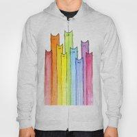 Cat Rainbow Watercolor P… Hoody