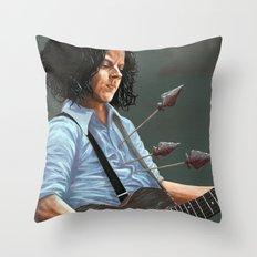 blue blood blues Throw Pillow