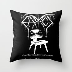 Modern Black Metal Throw Pillow