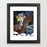 Framed Art Print featuring Angel Night 2 by Illu-Pic-A.T.Art