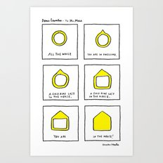 DENISE LEVERTOV - TO THE MUSE  Art Print
