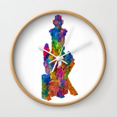 Block Tower Wall Clock
