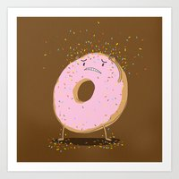 Itchy Donut Art Print