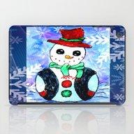 Snowman Christmas Painti… iPad Case