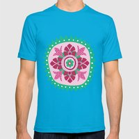 Suzani III Mens Fitted Tee Teal SMALL