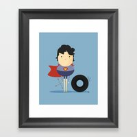 My Super hero! Framed Art Print