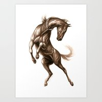 Ink Horse Art Print