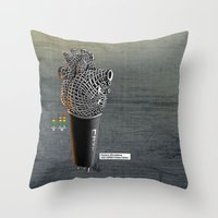 CRZN Dynamic Microphone Throw Pillow