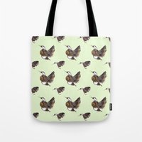 Green Hummingbirds Tote Bag